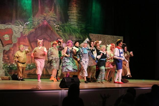 "The Fairytale Creature Ensemble of Shrek the Musical performing ""Freak Flag"""