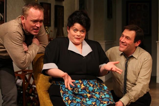 Robert (Left- J. McAndrew Breen) Bertha (Center- Anne Vandercook) and Bernard (Right- Jason Damaso)