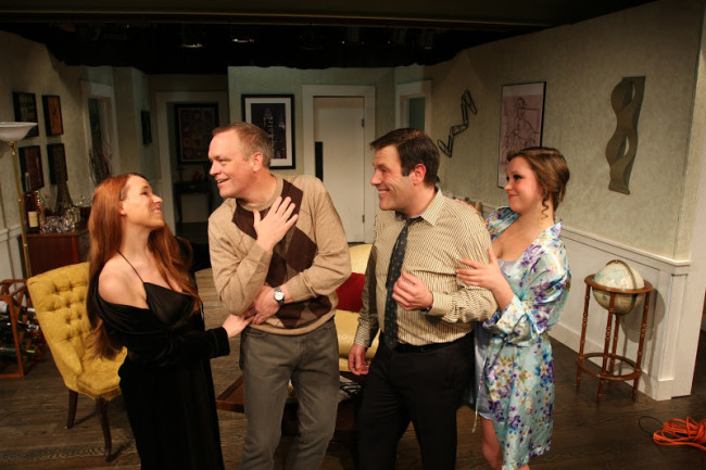 (L to R) Judith (Netta Morelli), Robert (J. McAndrew Breen), Bernard (Jason Damaso), and Jacqueline (Christina Fox)