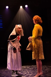 David James (Left) as Grandma Addams and Elizabeth Rayca (Right) as Alice Beineke