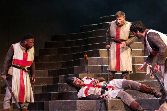 Toyin Omari Kinch as Eric the Archer, Alex Mann as Egham, Tom Gill as The Boy Soldier, Arthur McBain as English Soldier