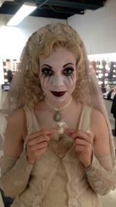 Julia Lancione as The Bride Ancestor backstage at The Addams Family