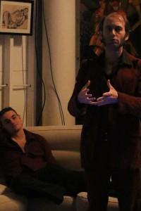Pausanius (L- Jeff Tegeler) and Eryximachus (R- Ishai Barnoy)