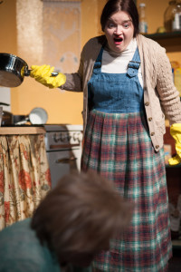 Kat McKerrow as Maureen Folan in The Beauty Queen of Leenane at Spotlighters Theatre