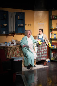Mag (L- Valerie Lash) and Maureen (R- Kat McKerrow) Folan in The Beauty Queen of Leenane at Spotlighters Theatre