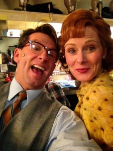 Mal Beineke (L- Darren McDonnell) and wife Alice (R- Elizabeth Rayca) are a NORMAL happy couple. They even take selfies in their down time.