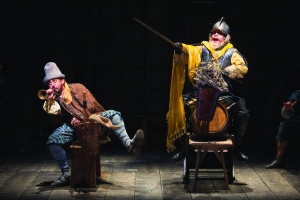 Nehal Joshi as Sancho and Anthony Warlow as Don Quixote in the Shakespeare Theatre Company's production of Man of La Mancha, directed by Alan Paul