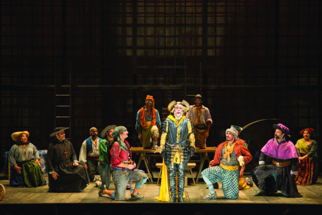 The cast of the Shakespeare Theatre Company's production of Man of La Mancha, directed by Alan Paul