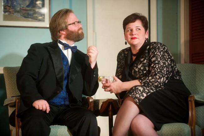 Stephen M. Deininger (left) as Lenny Ganz and Andrea Bush (right) as Claire Ganz