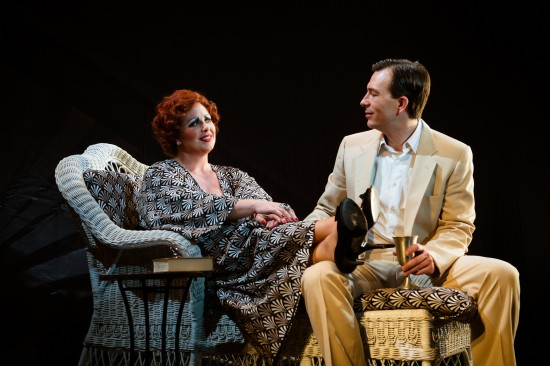 Norma Desmond (L- Katie McManus) and Joe Gillis (R- Joshua Redford) in Sunset Boulevard