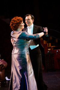 Norma Desmond (L- Katie McManus) and Joe (R- Joshua Redford) dance before New Year's in Sunset Boulevard