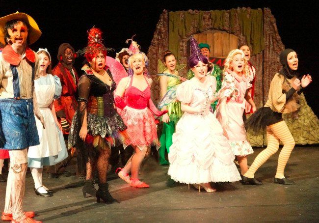 The Fairytale Ensemble of Shrek the Musical at Charm City Players