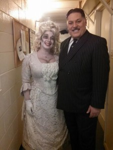 Gomez Addams (R- Lawrence B. Munsey) with his favorite Ancestor, Princess Tina Addams (L- swing, Tina DeSimone)