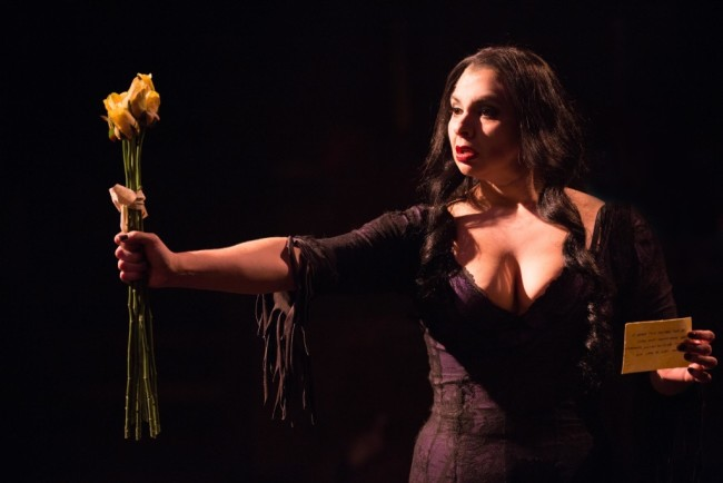 Priscilla Cuellar as Morticia Addams