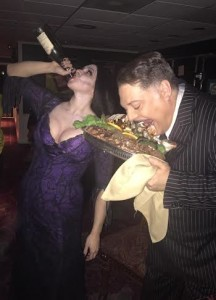 Morticia and Gomez Addams prepare for their full disclosure