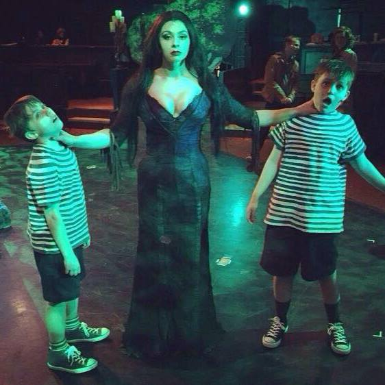 Double the Trouble! Morticia Addams (Priscilla Cuellar) and Pugsley (Left Gavin Willard, Right Jace Franco) Times Two!!