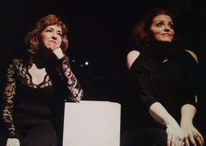"Jennifer Viets (left) and Alyson Shirk (right) sing ""If Mamma Were Married"" in Side by Side by Sondheim"