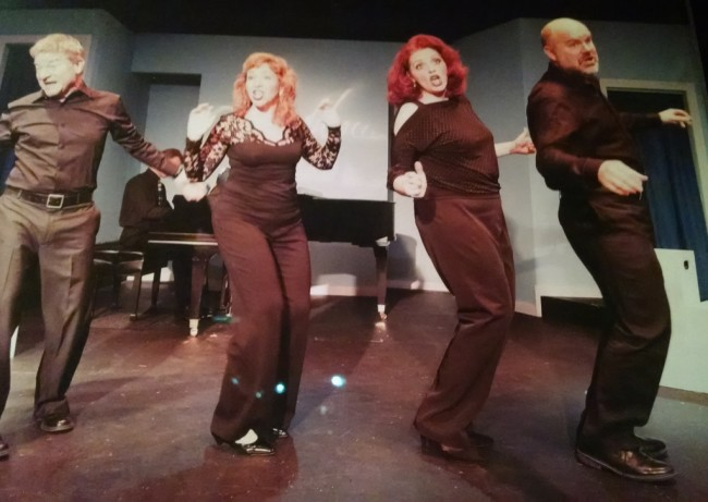 (L to R) Gary Hiel, Jennifer Viets, Alyson Shirk, and Steve Antonsen in Side by Side by Sondheim