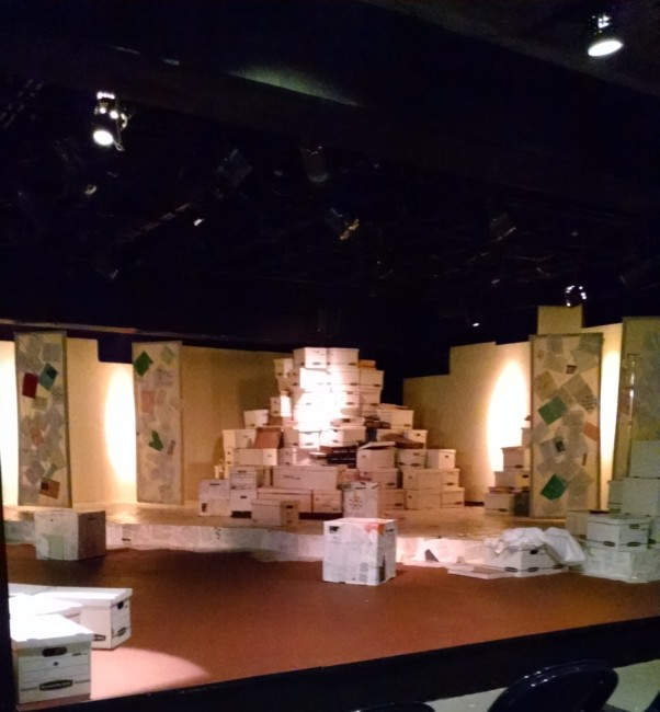 The set of The Language Archive at Silver Spring Stage, designed by Bill Brown