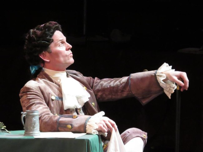 Dan Felton as Edward Rutledge in 1776 at Toby's Dinner Theatre