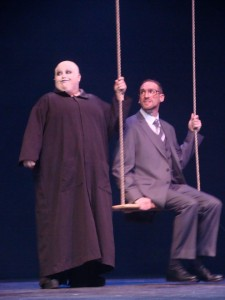 Uncle Fester (L- Kristen Cooley) and Mal Beineke (R- Brian Jacobs)