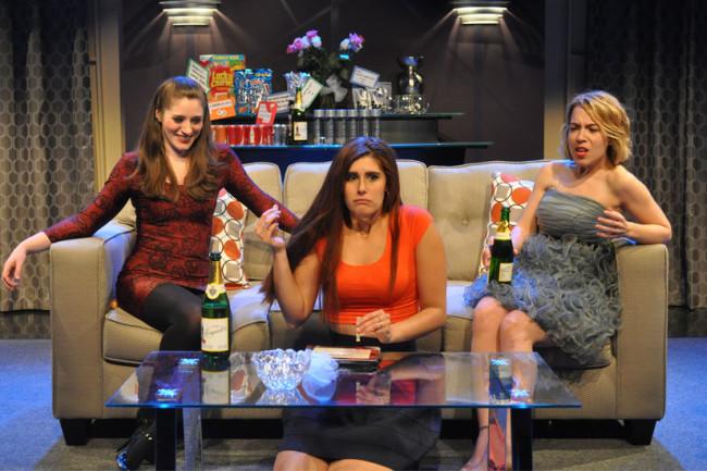 (L to R) Claire O'Brien as Gena, Maura Hogan as Katie, and Brianna Goode as Regan