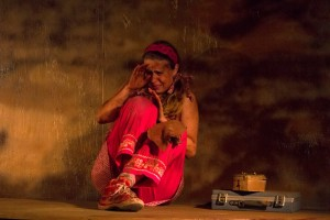 Ann Fraistat as Her in Dry Bones Rising by Cecelia Raker at Venus Theatre