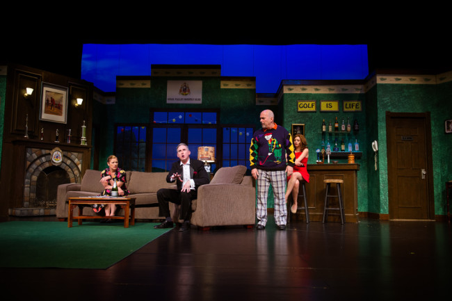 The cast of Fox on the Fairway at Reston Community Players