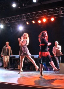 Rehearsal shot of Godspell at Silhouette Stages