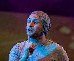 Andrew Worthington as Jesus in Godspell at Silhouette Stages