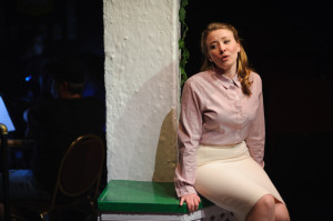 "Kerry Brady performs ""Sons Of"" in Jacques Brell is Alive and Well and Living in Paris at Spotlighters Theatre"