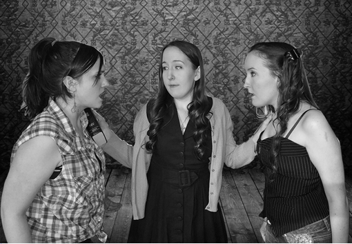 Sara Lee (L- Christie Day), Lurlene (C- Melissa Patek), and Evalita (R- Rachel Patek) in the upcoming production of Daddy's Dyin' Who's Got the Will?