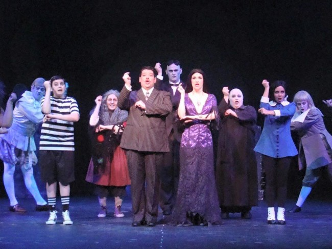 The Dundalk Community Theatre cast of The Addams Family