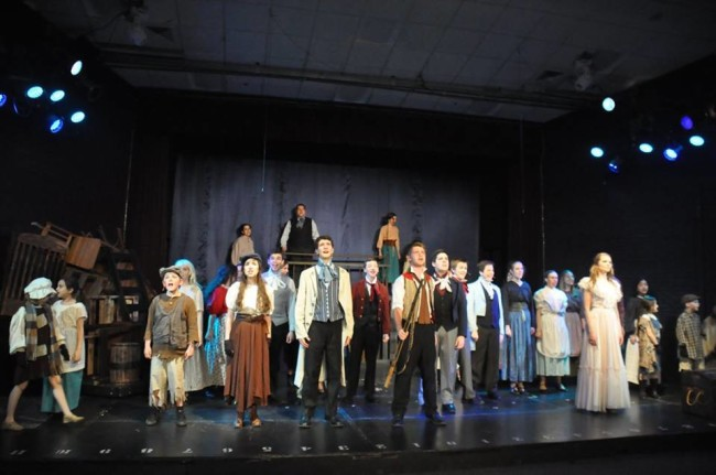 "The company of Les Miserables at Children's Playhouse of Maryland performing the Act I Finale- ""One Day More"""