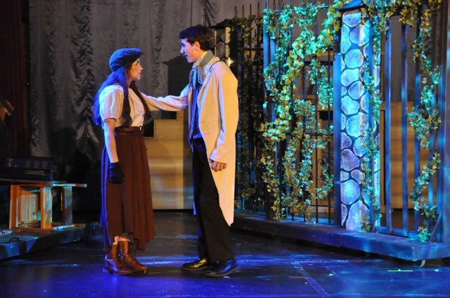 Ilyssa Rubin as Eponine (left) with Matthew Demetrides as Marius (right) in Les Miserables