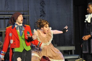 Philip Merrick as Thenardier (left) and Tiffany Flaharty as Madame Thenardier (right)