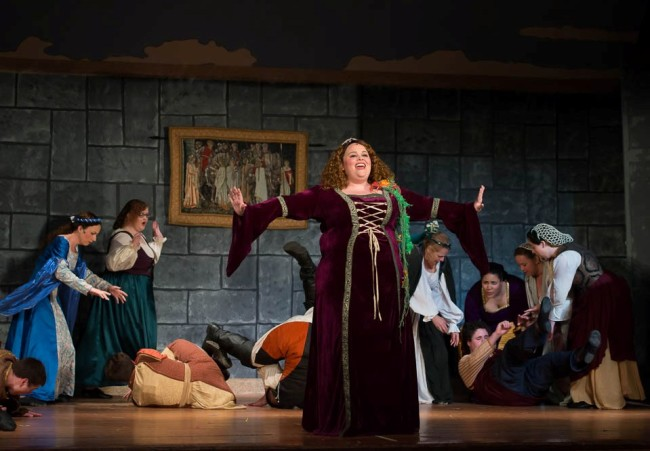 Amy E. Haynes as Princess Winnifred in Once Upon a Matress at Saint Gabriel Miracle Players
