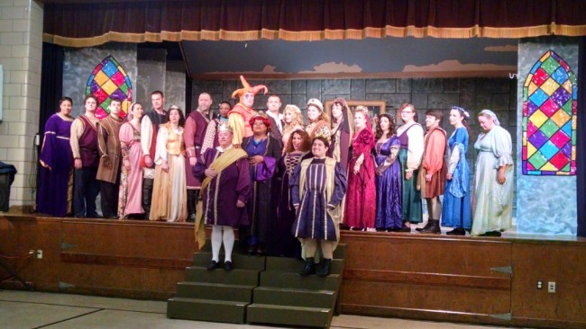 "The Cast of Saint Gabriel Miracle Players' ""Once Upon A Mattress"""