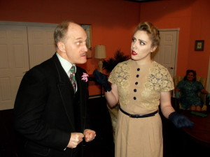 James McDaniel as Dunalp (left) and Lea Scherinir as Murphy (right) in PGLT's Suite Surrender
