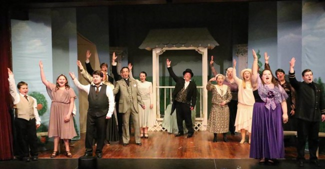 The cast of The Sorcerer at The Salem Players