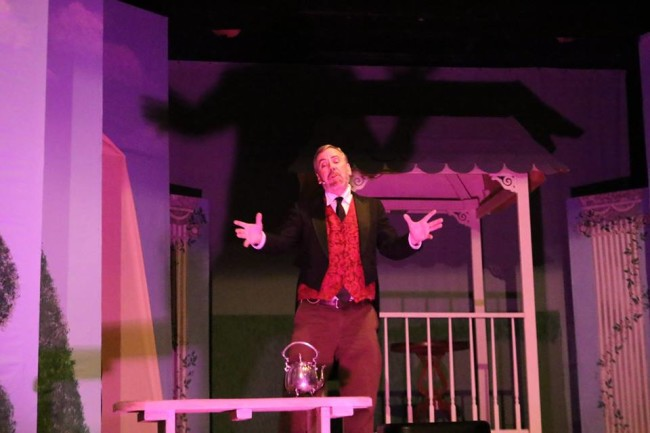 Tim Van Sant as the title character in The Sorcerer at The Salem Players