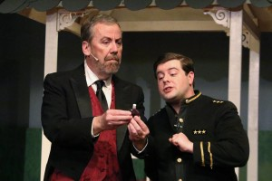 Tim Van Sant as The Sorcerer- John Wellington Wells (left) and David Hill as Alexis (right) in The Sorcerer at The Salem Players
