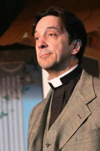 Jim Knost as Dr. Daly, the Vicar of Ploverleigh in The Sorcerer at The Salem Players