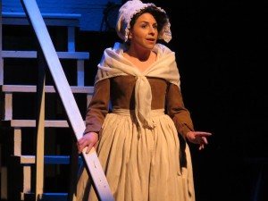 Satina Maiolatesi as Abigail Adams in 1776 at Toby's Dinner Theatre