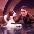 Crab the Dog (L- Julie) and Launce (R- Matthew Alan Ward) in The Two Gentlemen of Verona
