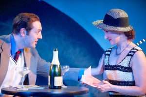 Valentine (L- Joel Ottenheimer) and Silvia (Laura Rocklyn) in The Two Gentlemen of Verona
