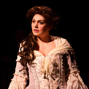 MaryKate Brouillet as Martha Jefferson in 1776 at Toby's Dinner Theatre