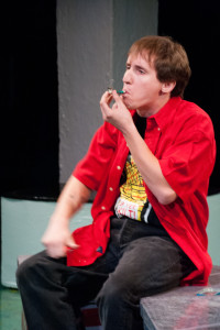 Adam Michael Abruzzo as Van in Dog Sees God at Spotlighters Theatre