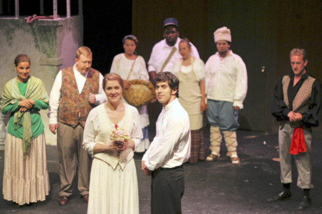 "The company of ""Fools"" by Neil Simon at Parlor Room Theatre"