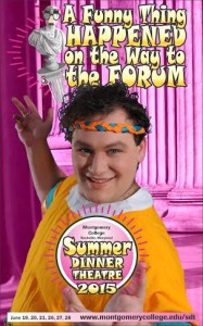 Gregory Atkin as Pseudolus in A Funny Thing Happened on the Way to the Forum